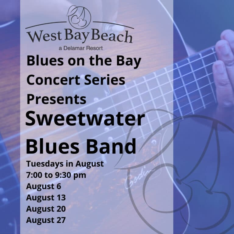 August Blues on the Bay Series at West Bay Beach Delamar