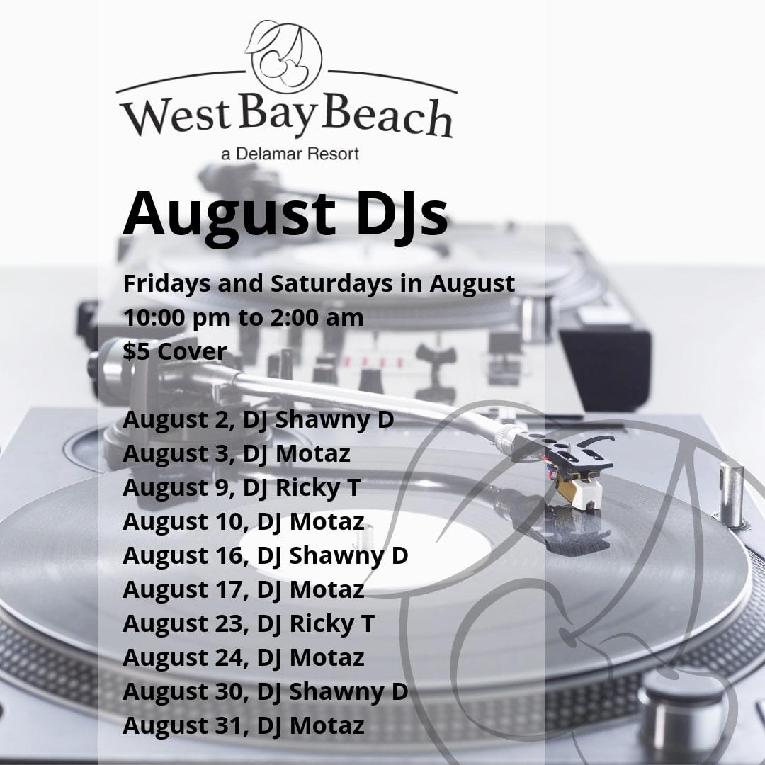 West Bay Beach Live DJ Events